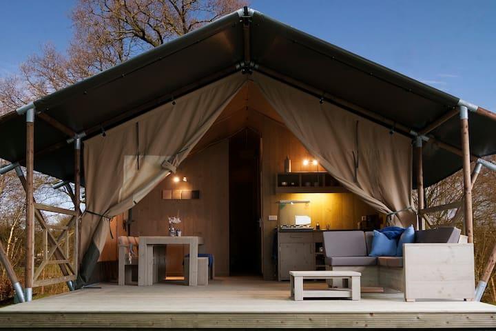 luxe 6 persoons safaritent op de Veluwe - Voorthuizen - Tent