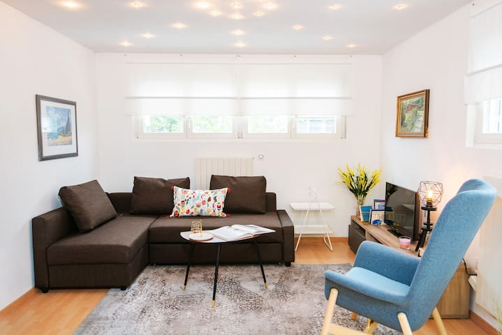 Living room with bedsofa can be used for 2 people
