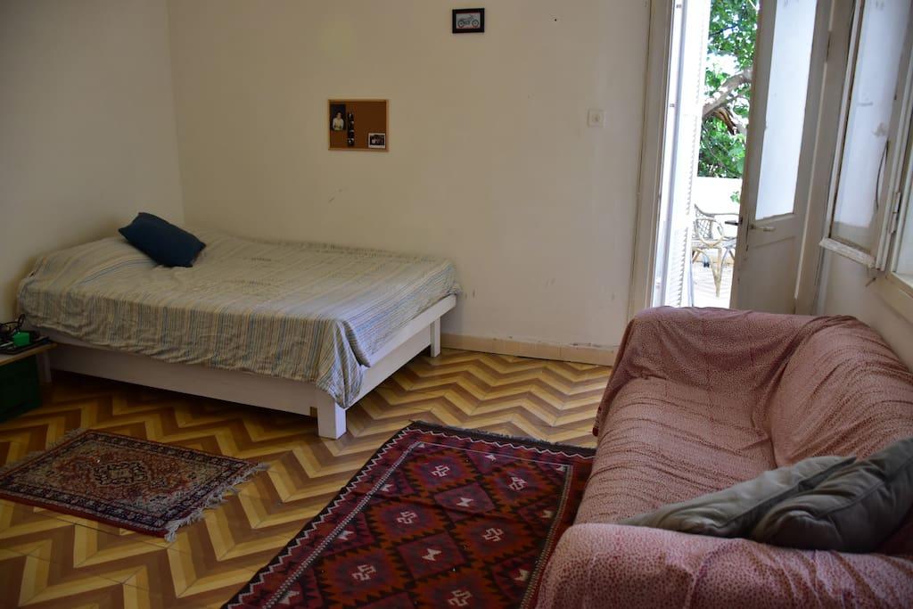 the room, door for a privet belcony