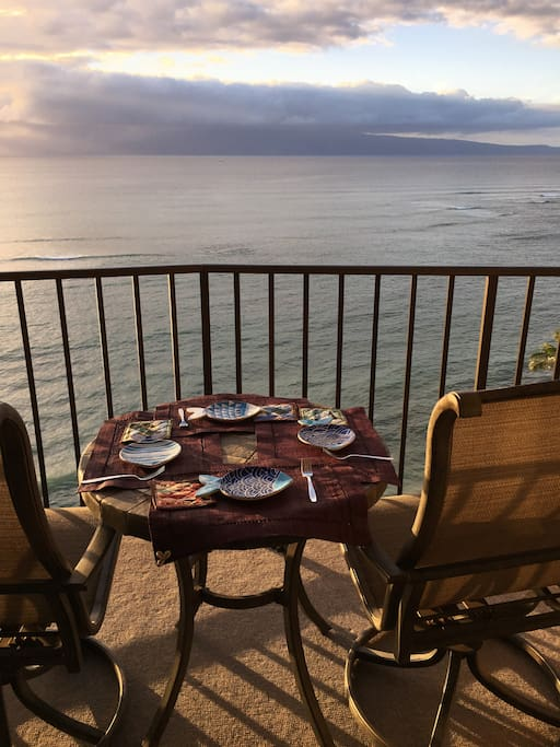 Enjoy  a drink or your meal on the lanai