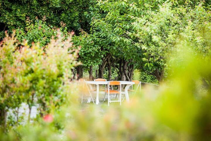 Appartamento in villetta con giardino mar ligure