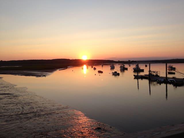Sunset near the pier.