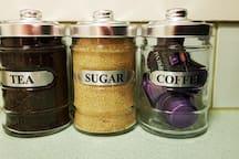 Teas, Sugar, Coffees