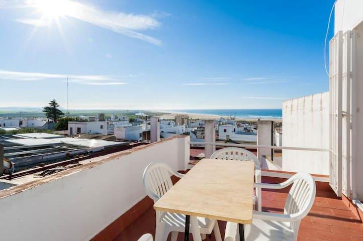 Casa con terraza con vistas al mar - Conil de la Frontera - Talo