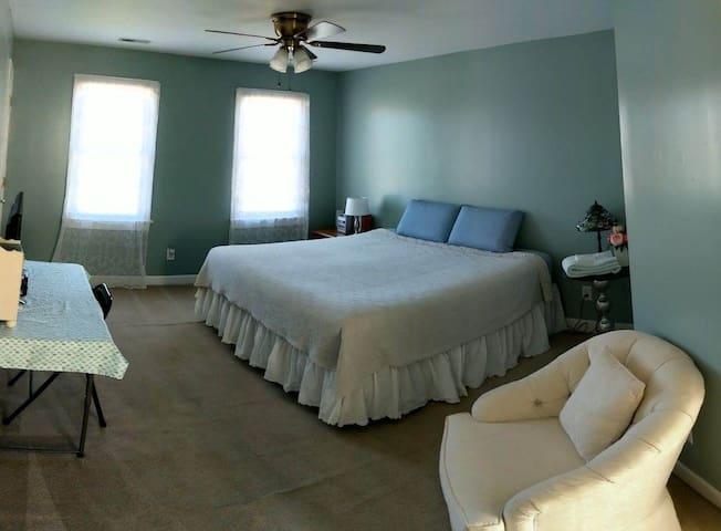 Master bedroom in Beautiful home.