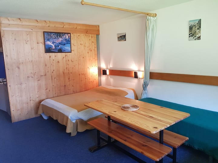 Studio for 3 persons in Arc 1600 next to the slopes and close to shops