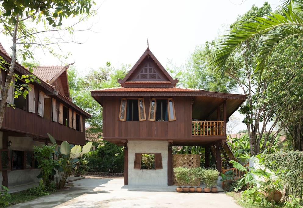 The front side of the Teak house.