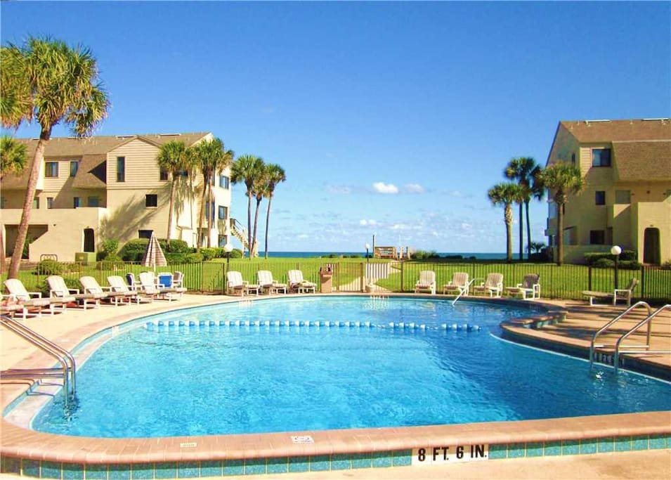 Spacious & well-maintained, the oceanfront pool is so inviting! - Swim with the kids all day in the pool. Pool noodles, torpedoes