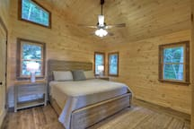 Upper bedroom with King bed!