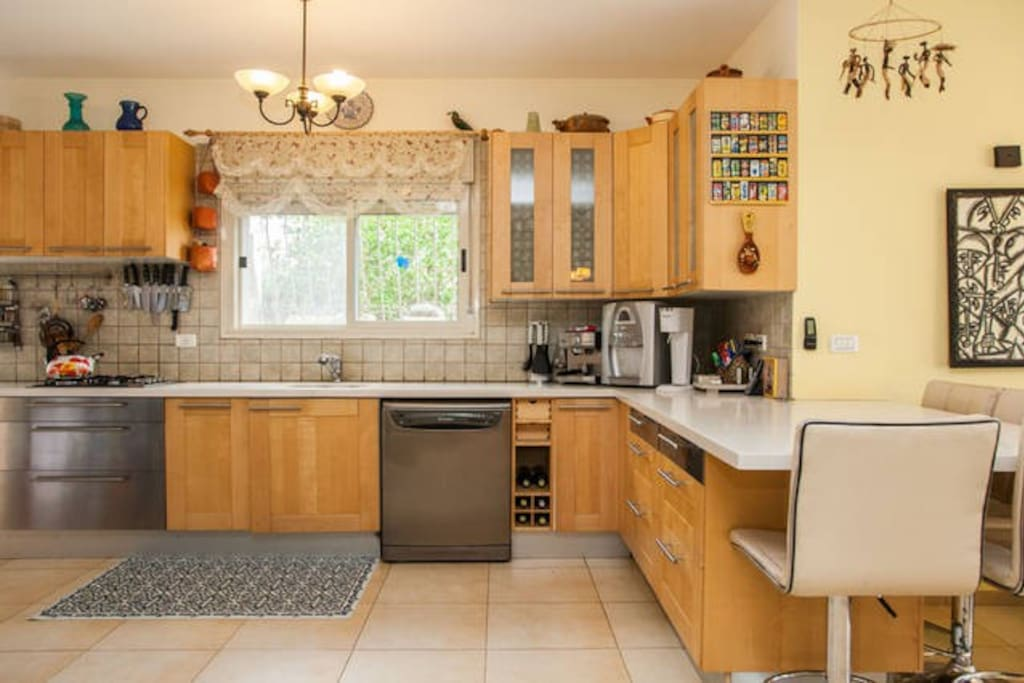 You are welcome to use our fully equipped kitchen