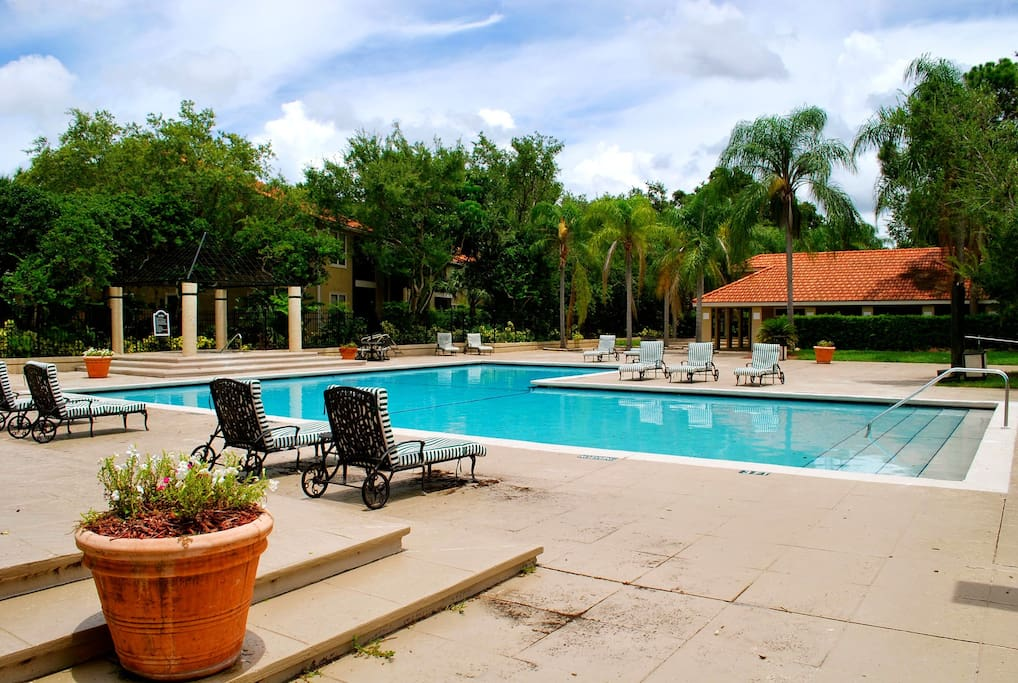 You have possibility to use two pool areas in the community.