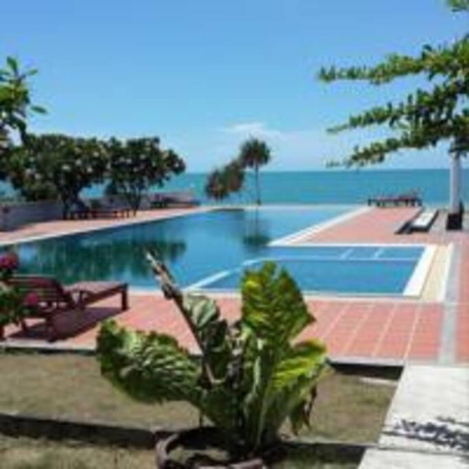 25 meter long swimming pool.