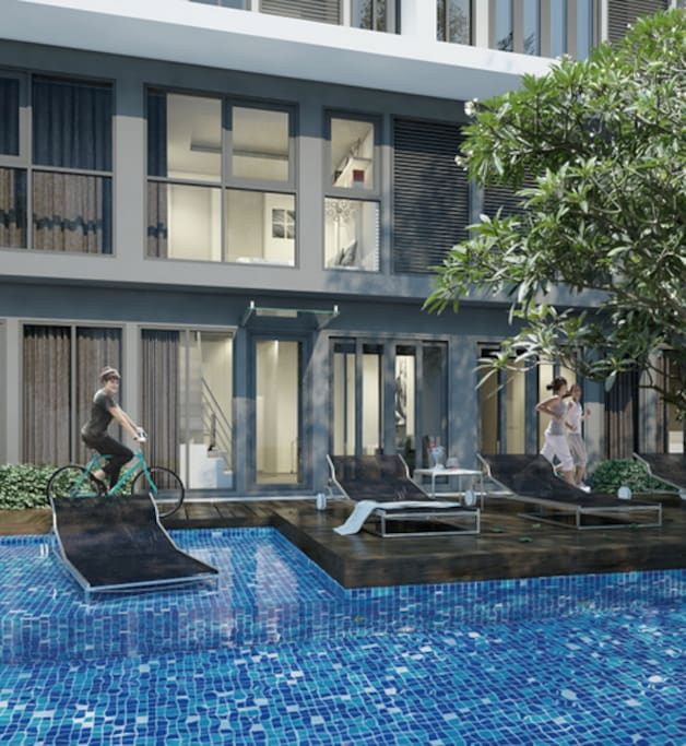 Condo's pool where you can enjoy!