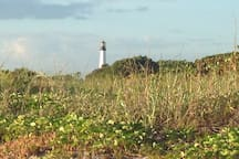 Lighthouse at the tip of the Island in the park