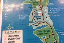 Bike path map of the Island - maybe 3-4 miles tip to tip