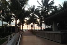 Sunrise at the Village Beach Park - 5 minutes by bike
