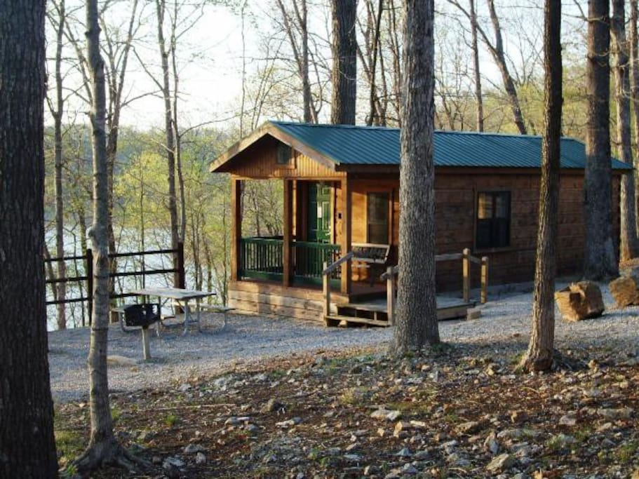 Beautiful Log Cabin On The Lake Cabins For Rent In