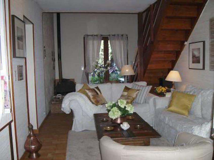 Salón acogedor y cómodo