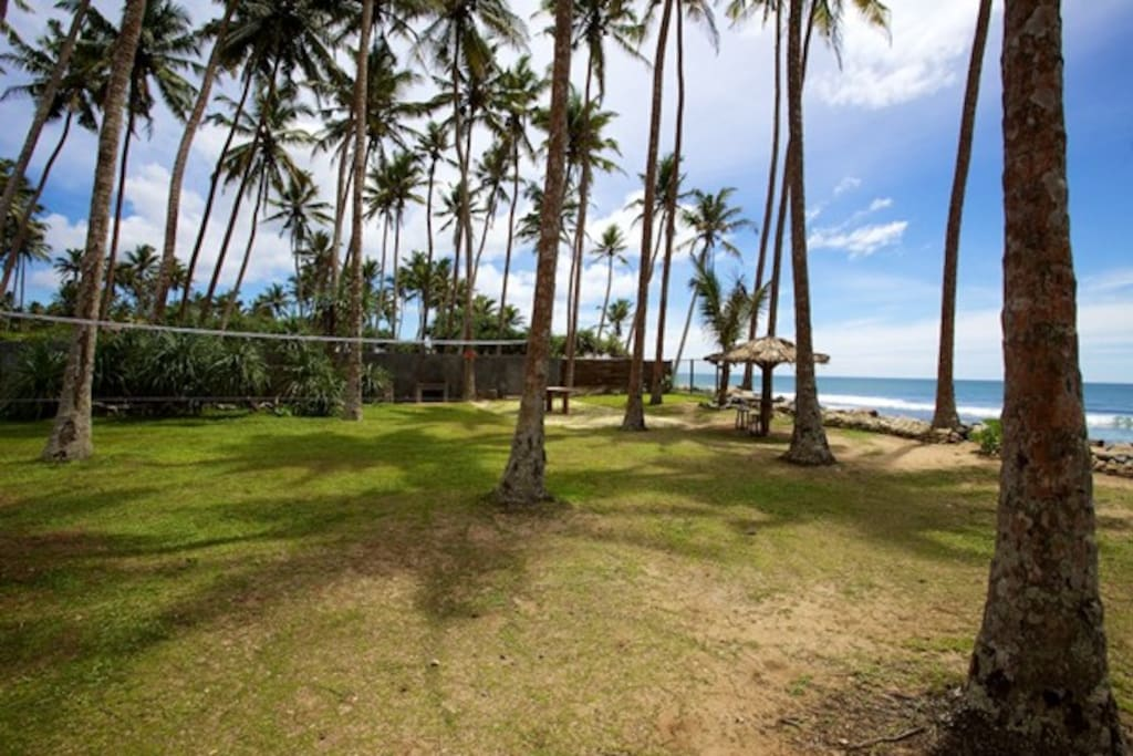 Villa garden looking towards beach