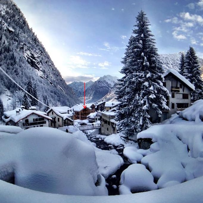 Located in Alagna in the beautiful Italian Alps
