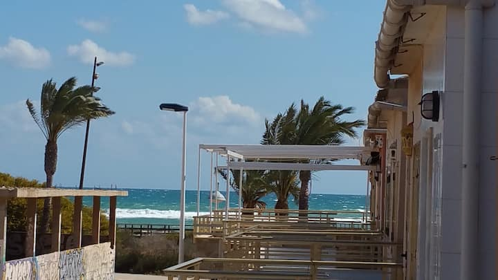 3min walk from Sandy Beach of Mediterranean Sea