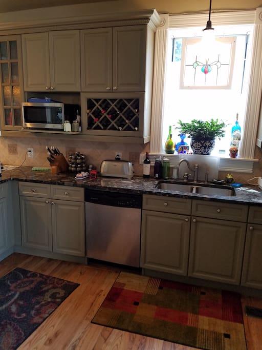 Bright Big Kitchen for Breakfast