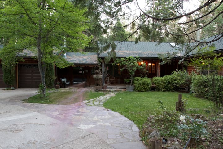 Front view of papa Bear's Lodge