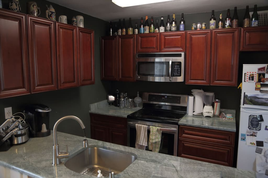 Freshly renovated kitchen with