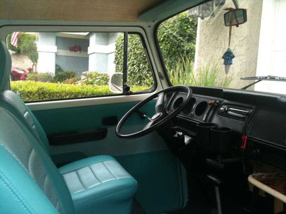 Vintage VW buses ready to hit the road with freshly restyled interiors.