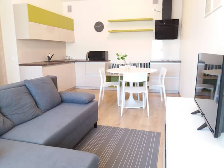 """Modern family apartment with a balcony """"Waves"""" no8"""