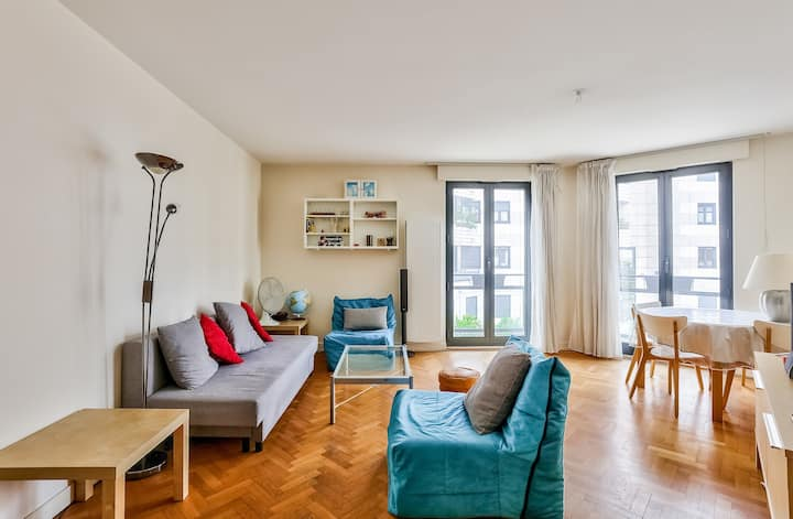 Luminous apartment next to the Bois de Vincennes