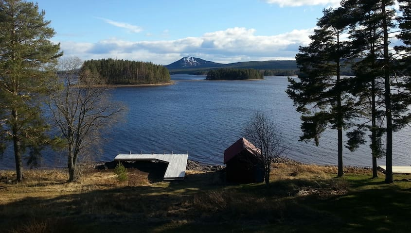 Swedish cottage by Lake Siljan, Mora, Dalarna