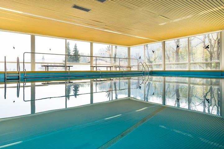 Der Pool mit Gegenschwimmmöglichkeit