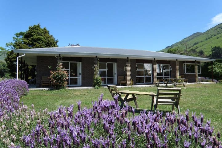 Guesthouse on Picturesque Sheep Farm in Okains Bay