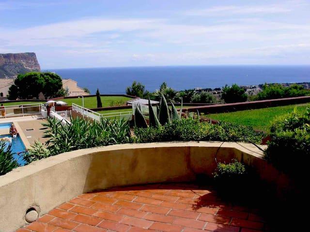 Pavillon 40m2,vue mer, grande terrasse panoramique