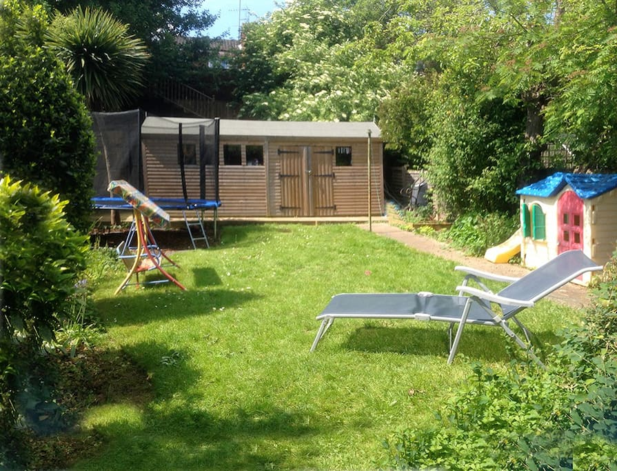 A good size garden where children can play whilst adults relax