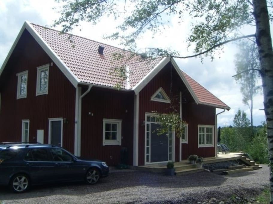 Our classic swedish house with two floors, a large terrace. About 170 m2, built 2008.