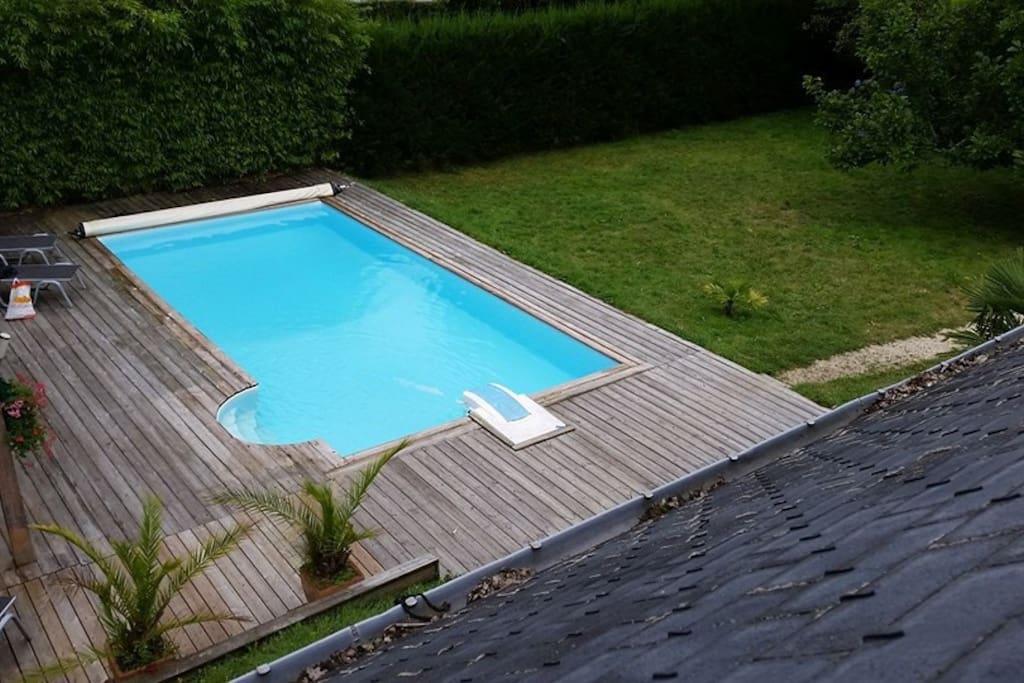 Location villa avec piscine priv e villas for rent in la for Camping la foret fouesnant avec piscine