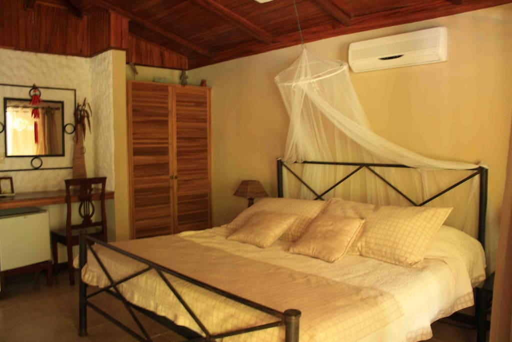 Superior Room with Kingsize bed, A/C, cable TV, fridge, wi-fi, safety box, private bathroom and terrace, garden view