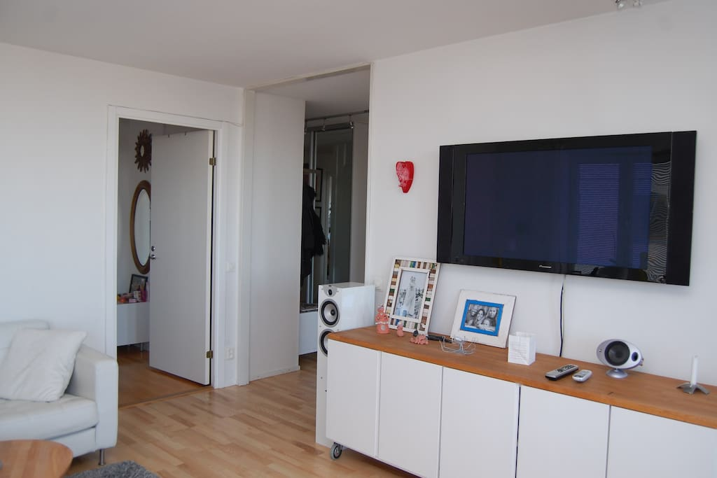 Living room, flat screen tv