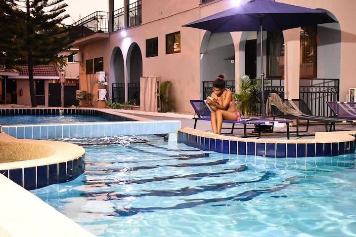 Private Double Studio1 Apartment + Pool