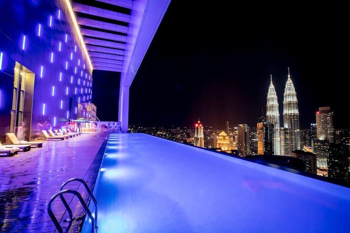 KLCC Towers View Luxury Suite 2BR1B 1035sqft 5pax - Kuala Lumpur - Apartamento