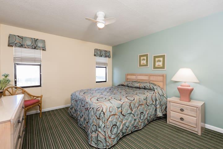 Bedroom with Queen Bed at Windy Shores II Resort