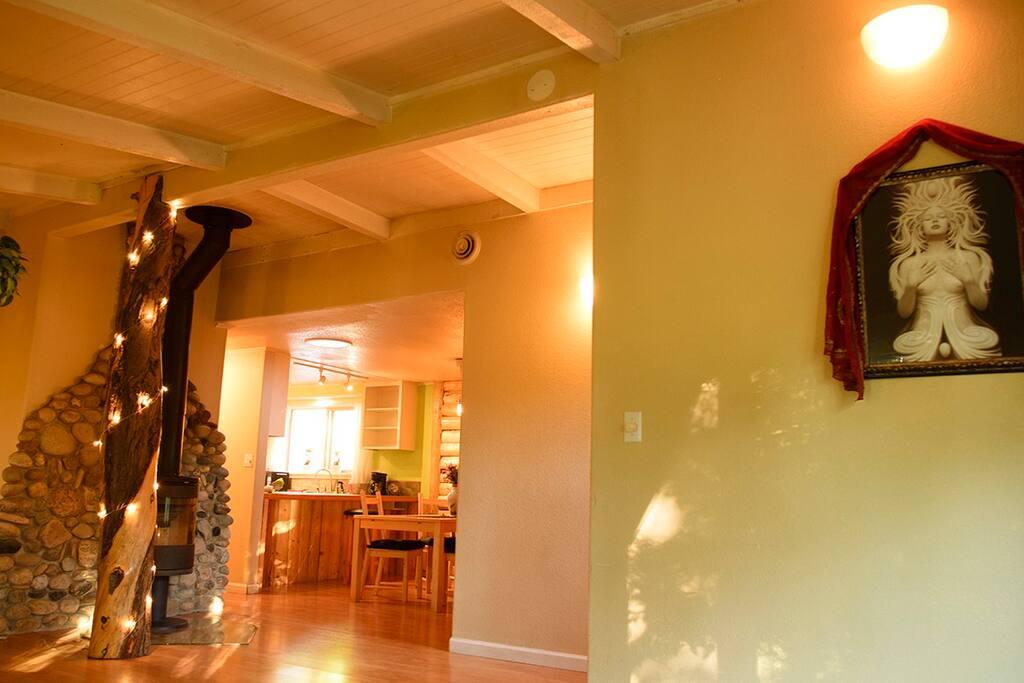 Living Room; Artwork by Andrew Gonzalez