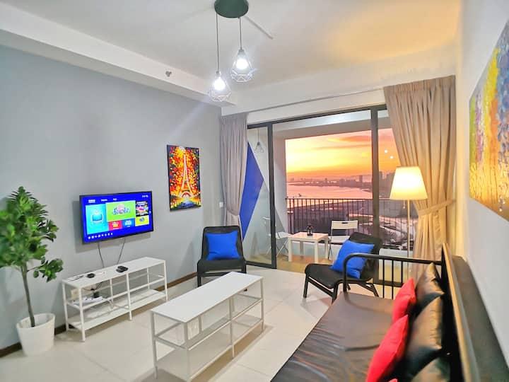 Sanitized 270° Seaview Sunrise Gurney Balcony L36