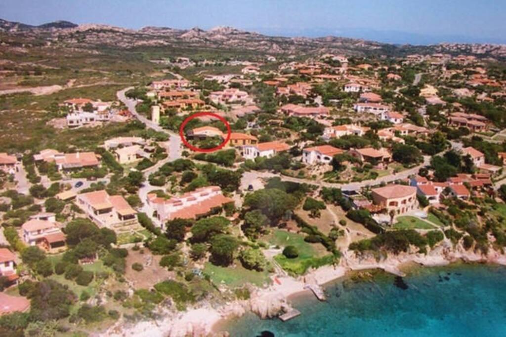 """Villaggio Piras, nel cerchio rosso """"Casa Tramonto"""""""