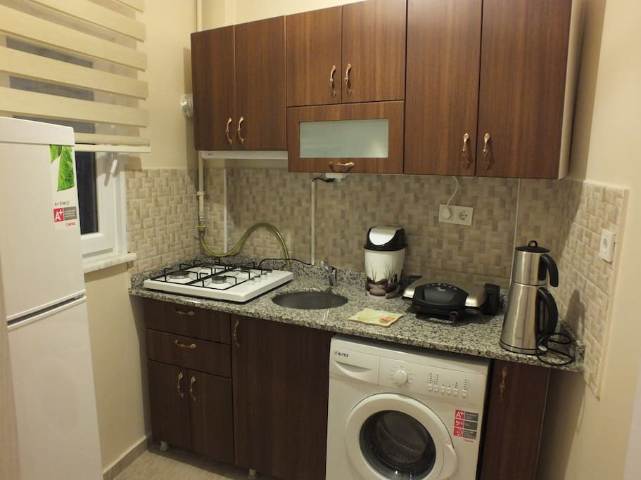 This is our kitchen fully equipped for all your needs.