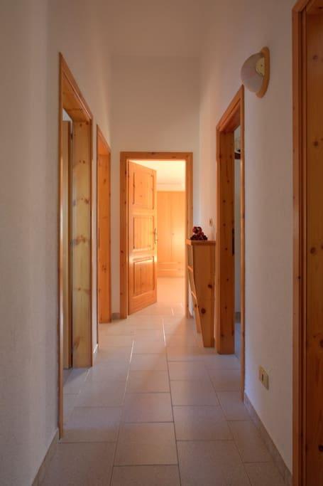 The corridor at the entrance