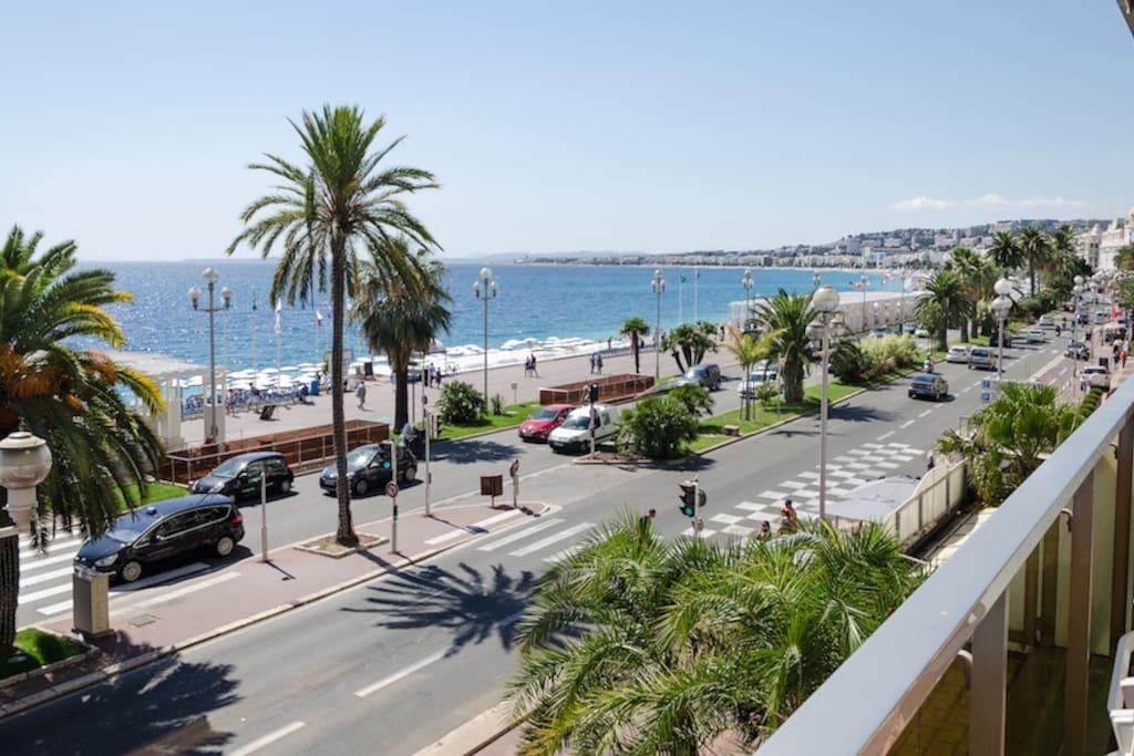 vue de la terrasse face mer