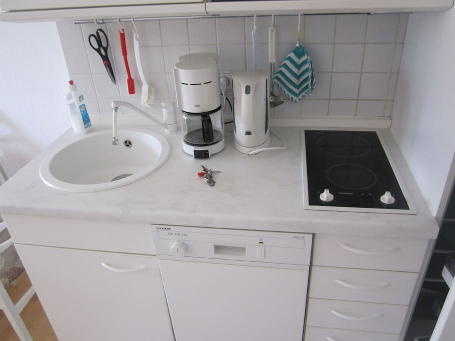 Mikrowelle, Ofen, Spülmaschine, Kühlschrank